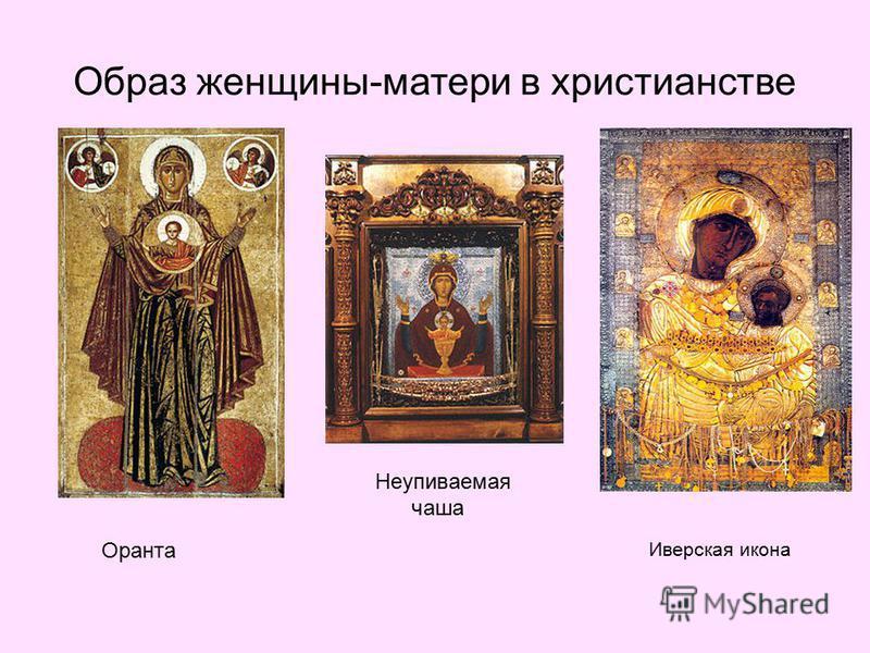 Образ женщины-матери в христианстве Неупиваемая чаша Оранта Иверская икона