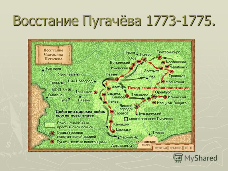 Восстание Пугачёва 1773-1775.