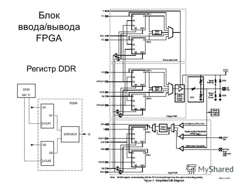Блок ввода/вывода FPGA Регистр DDR