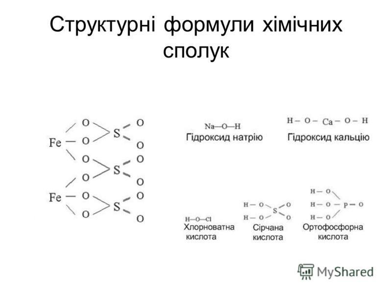 Структурні формули хімічних сполук