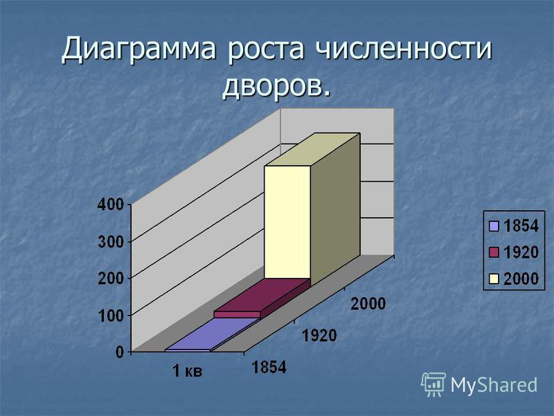 Диаграмма роста численности дворов.