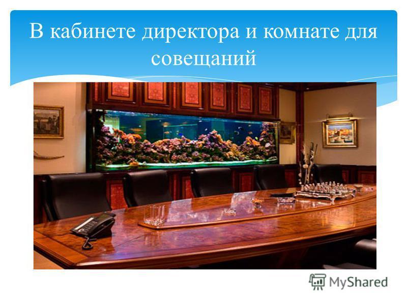 В кабинете директора и комнате для совещаний