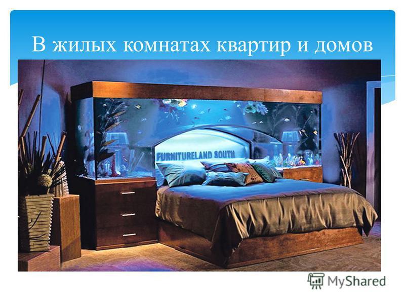 В жилых комнатах квартир и домов