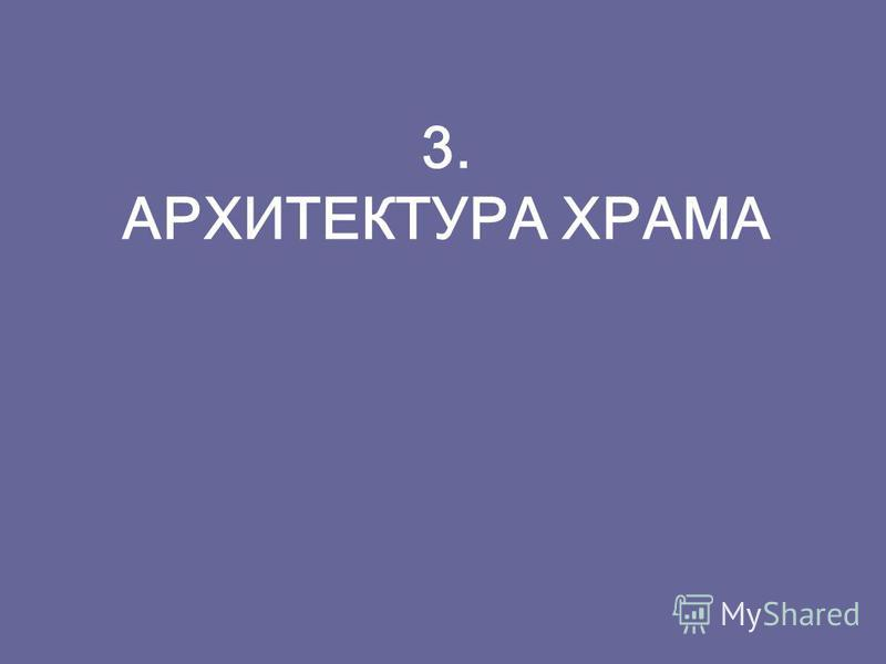 3. АРХИТЕКТУРА ХРАМА