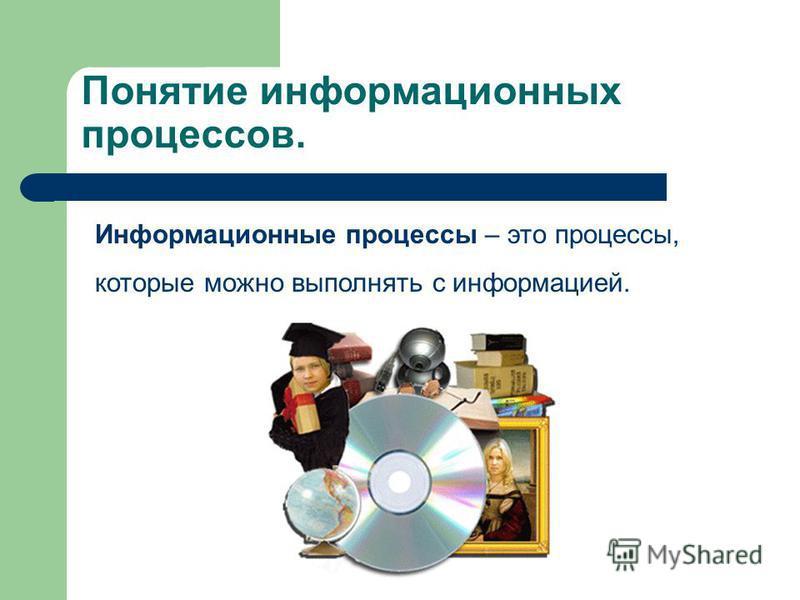 Информационные процессы. Шидловская Елена Алексеевна