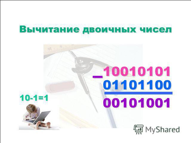 1111 0000 0000 1111 0000 1111 0000 1111 0000 0000 1111 0000 1111 0000 0000 1111 0000 1111 1111 0000 1111 1111 0000 0000 ++++ Сложение двоичных чисел Сложение двоичных чисел 1111 ++++ 1111 ==== 1111 0000
