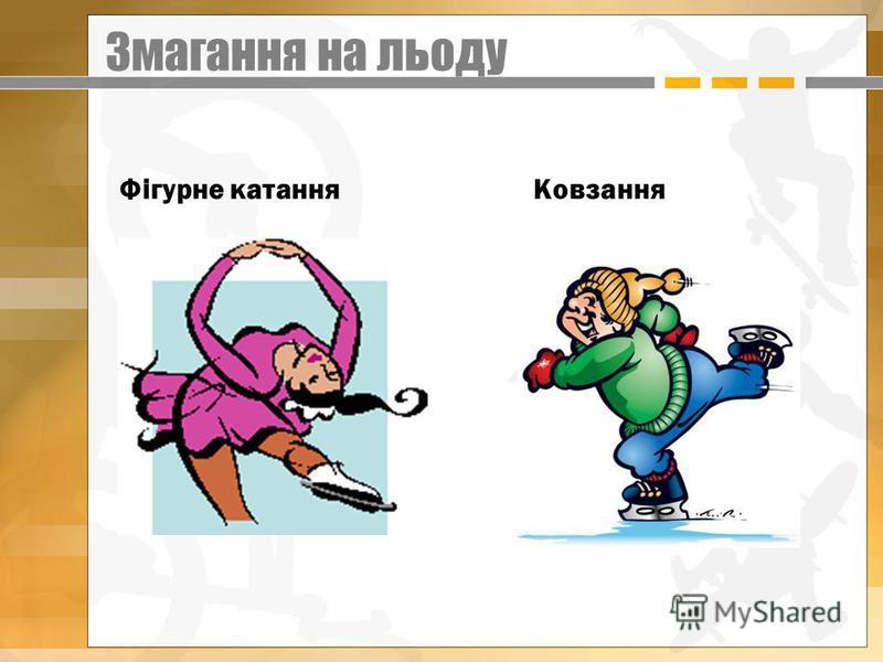 Змагання на льоду Фігурне катання Ковзання