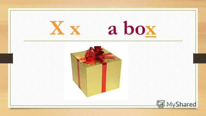 X x a box