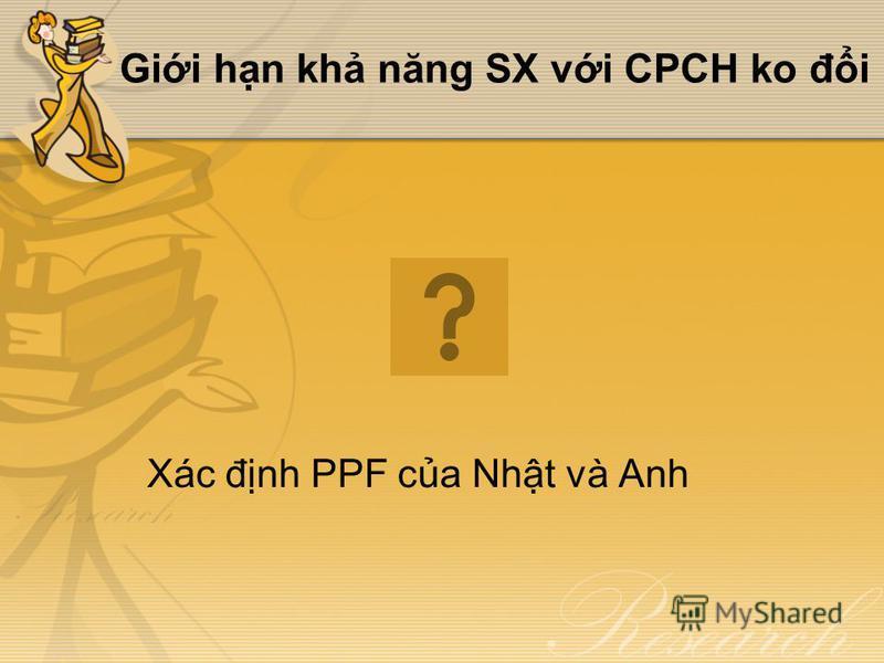Gii hn kh năng SX vi CPCH ko đi Xác đnh PPF ca Nht và Anh