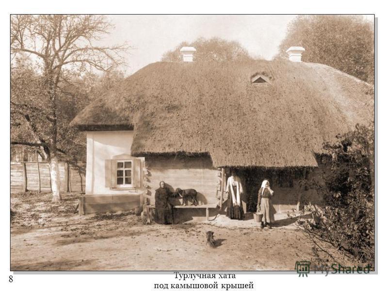 Турлучная хата под камышовой крышей 8