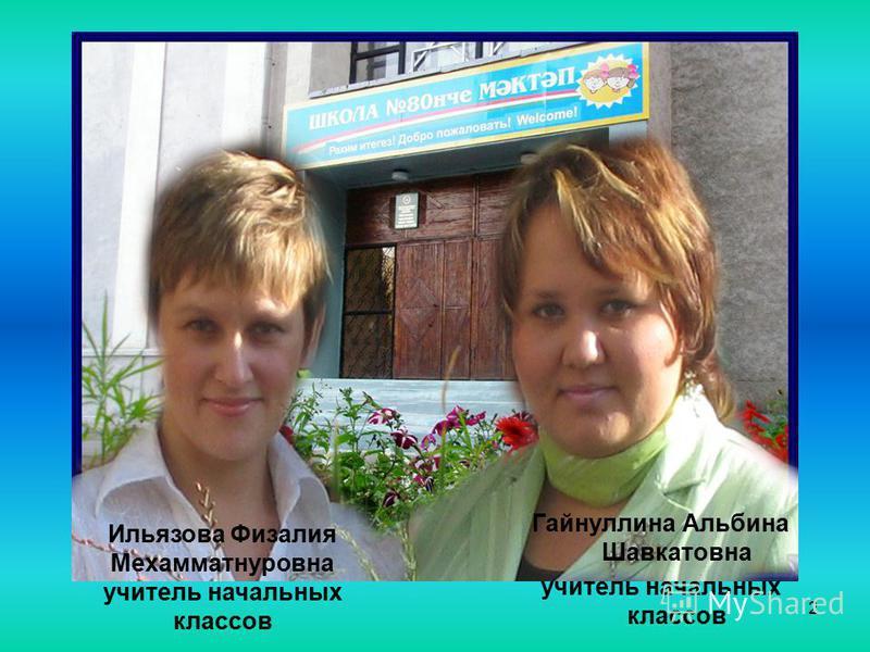 2 Гайнуллина Альбина Шавкатовна учитель начальных классов Ильязова Физалия Мехамматнуровна учитель начальных классов