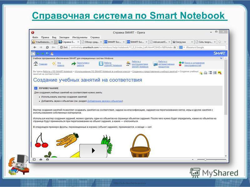 Справочная система по Smart Notebook
