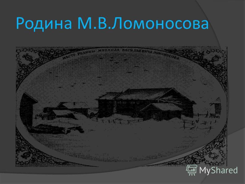 Родина М.В.Ломоносова