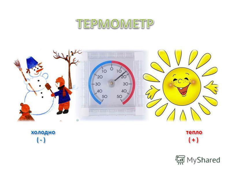 холодно тепло ( - ) ( + ) холодно тепло ( - ) ( + )