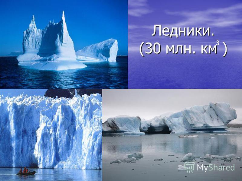 Ледники. (30 млн. км ) 3