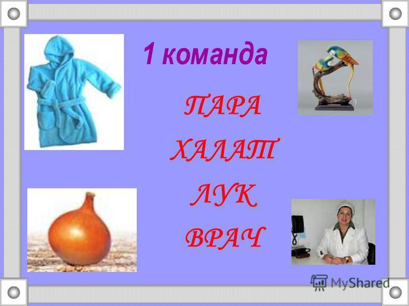 1 команда ПАРА ХАЛАТ ЛУК ВРАЧ