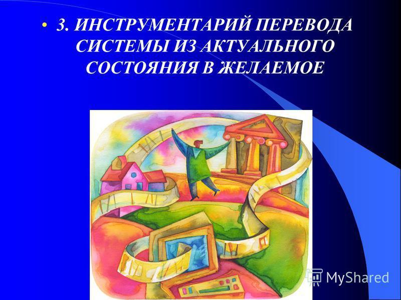 3. ИНСТРУМЕНТАРИЙ ПЕРЕВОДА СИСТЕМЫ ИЗ АКТУАЛЬНОГО СОСТОЯНИЯ В ЖЕЛАЕМОЕ