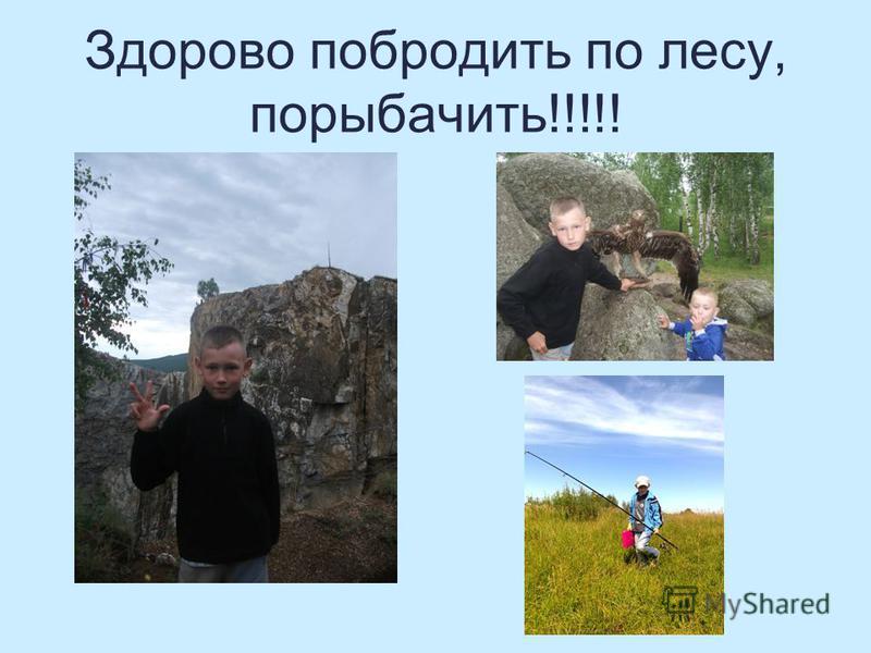 Здорово побродить по лесу, порыбачить!!!!!