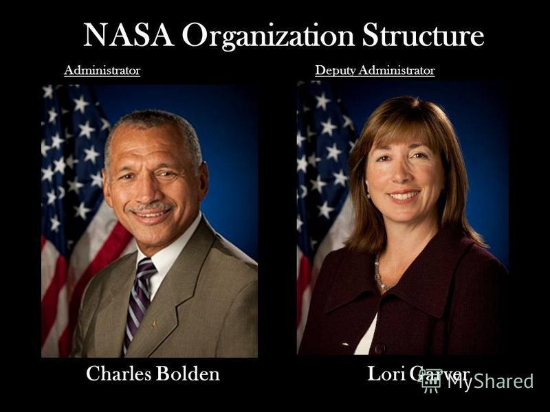 NASA Organization Structure Charles Bolden AdministratorDeputy Administrator Lori Garver
