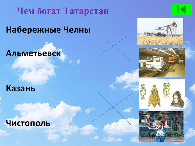 Чем богат Татарстан Набережные Челны Альметьевск Казань Чистополь