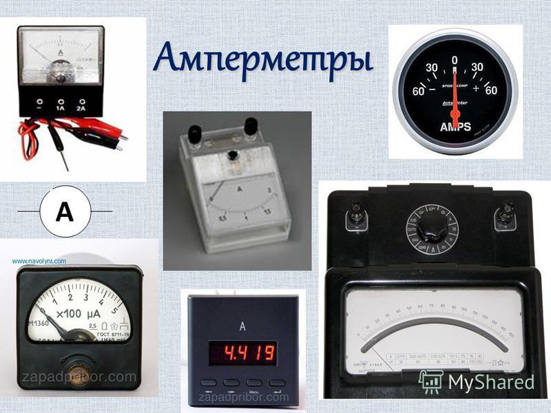 Амперметры А