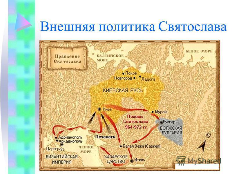 Внешняя политика Святослава