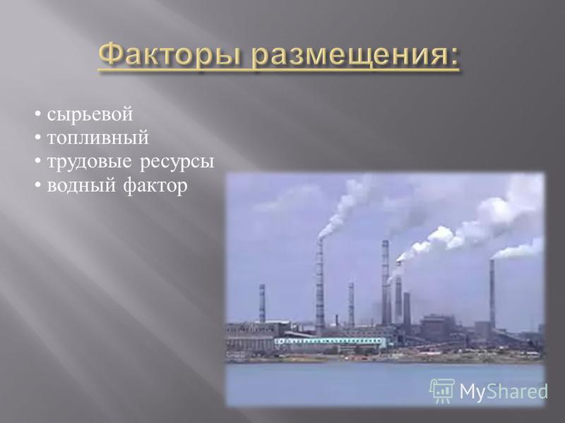 сырьевой топливный трудовые ресурсы водный фактор