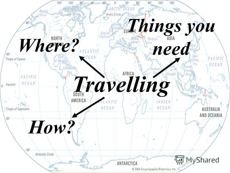 Travelling Where? Things you need How?