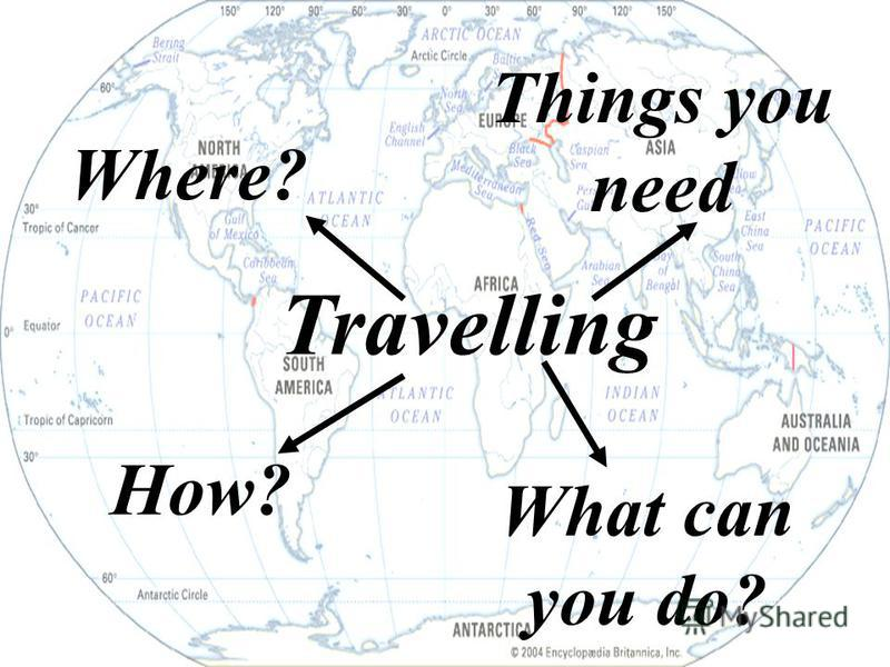 Travelling Where? Things you need How? What can you do?