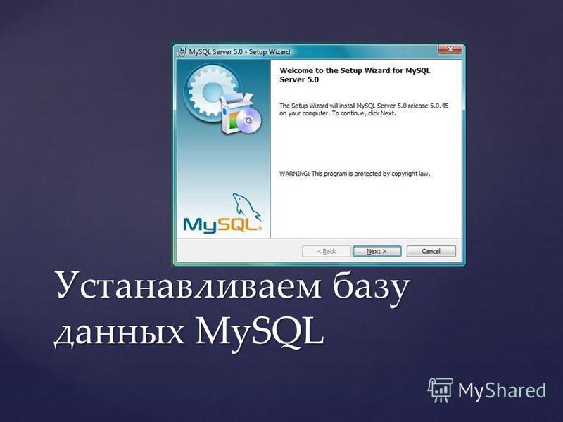 Устанавливаем базу данных MySQL