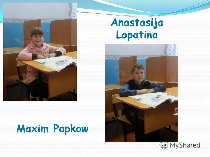 Anastasija Lopatina Maxim Popkow