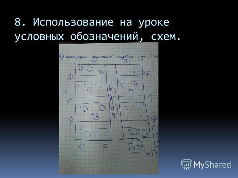 8. Использование на уроке условных обозначений, схем.