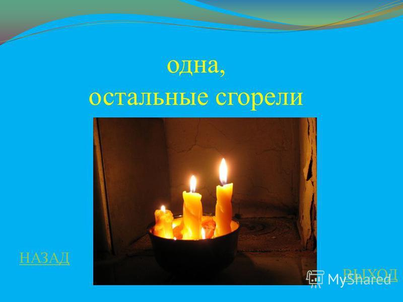 В царстве смекалки 100 ответ В комнате горело три сечи, одна потухла, сколько свечей осталось в комнате?