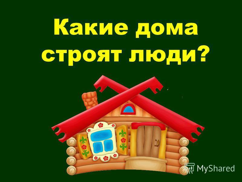 Какие дома строят люди?