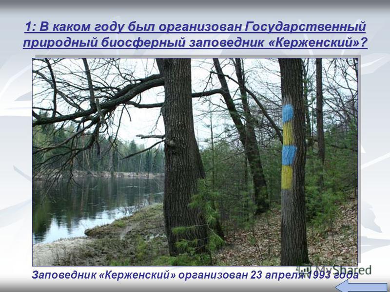 Заповедник «Керженский» организован 23 апреля 1993 года
