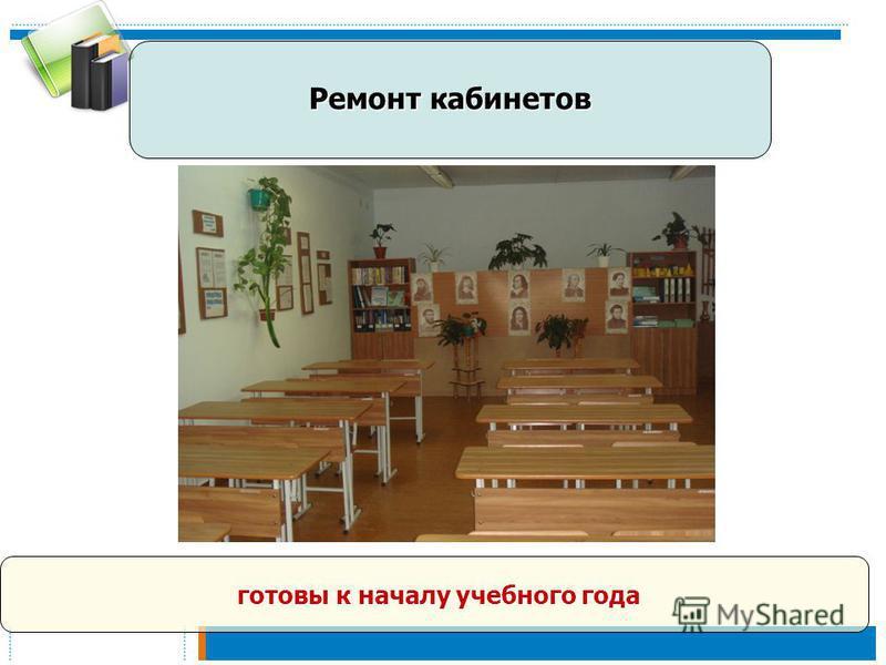 Ремонт кабинетов готовы к началу учебного года готовы к началу учебного года