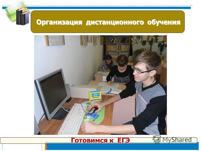 Организация дистанционного обучения Организация дистанционного обучения Готовимся к ЕГЭ Готовимся к ЕГЭ