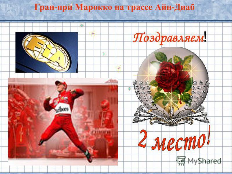 24 Поздравляем ! Гран-при Марокко на трассе Айн-Диаб