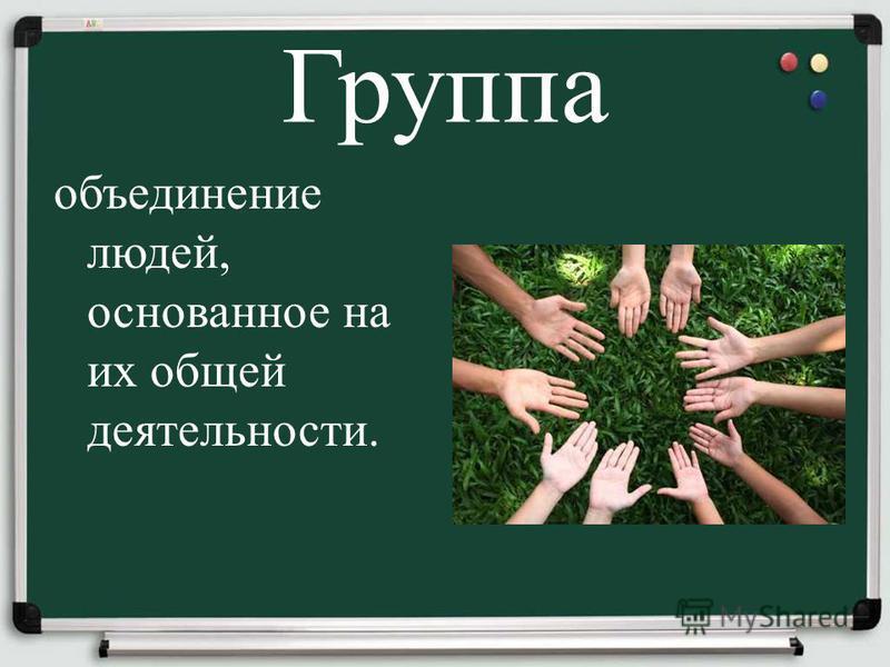 Группа объединение людей, основанное на их общей деятельности.