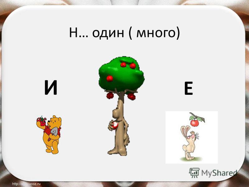 Н… один ( много) И Е
