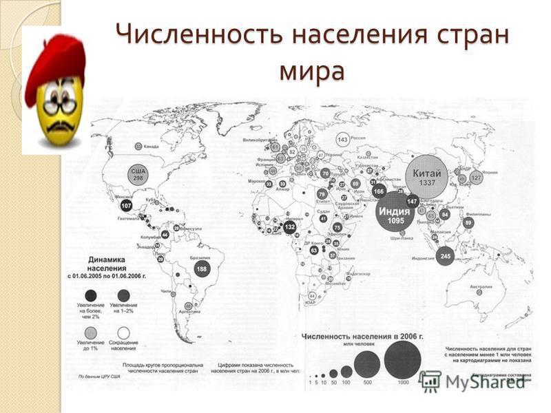 Численность населения стран мира