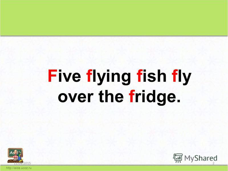 11.08.20152 Five flying fish fly over the fridge.