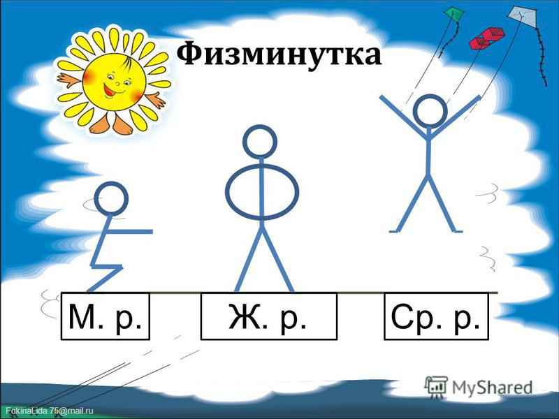 FokinaLida.75@mail.ru Физминутка М. р.Ж. р.Ср. р.
