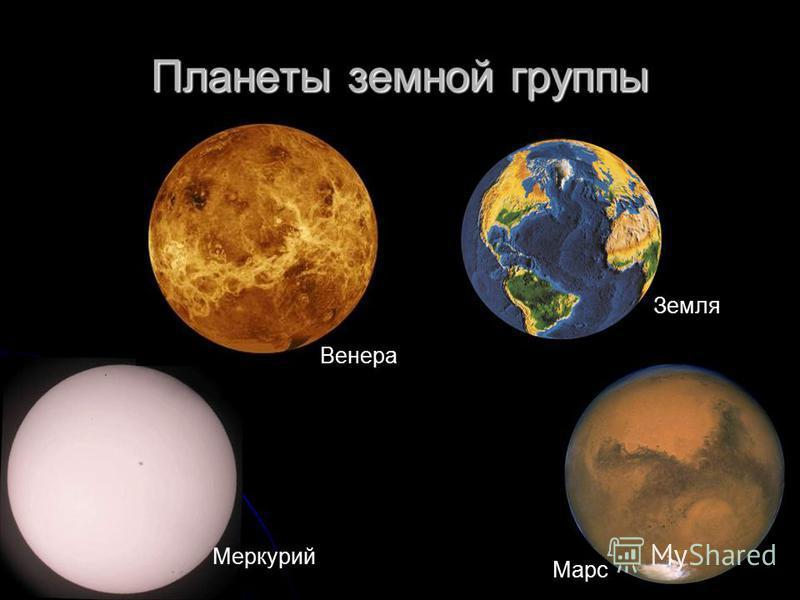 Планеты земной группы Марс Меркурий Венера Земля