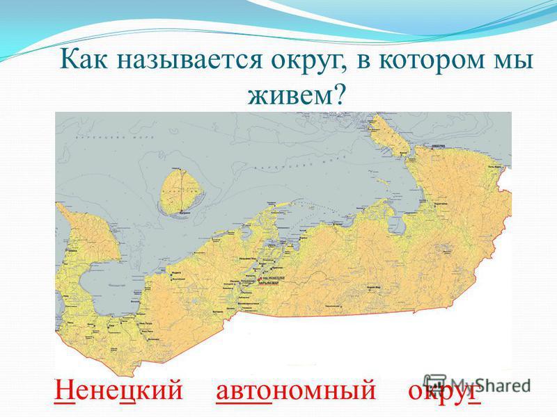 Как называется округ, в котором мы живем? Ненецкий автономный округ