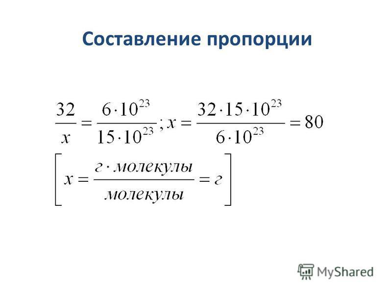 Составление пропорции