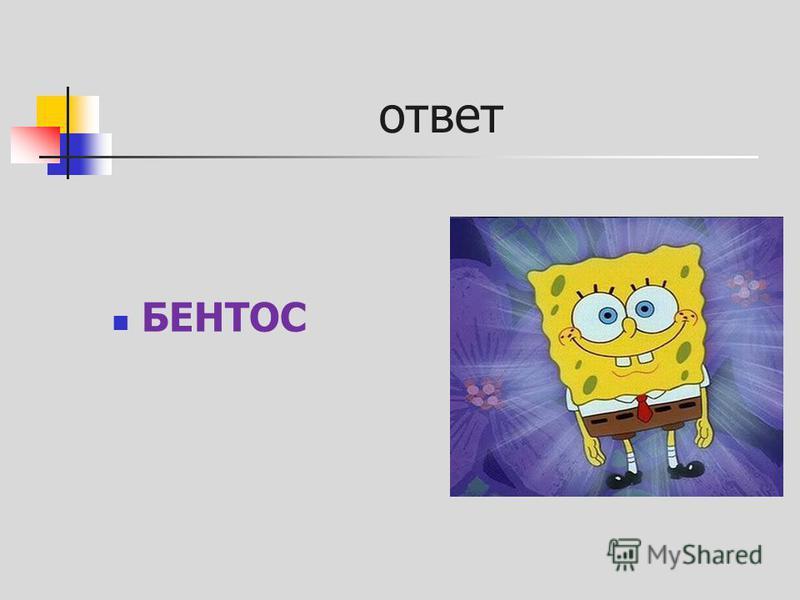 ответ БЕНТОС