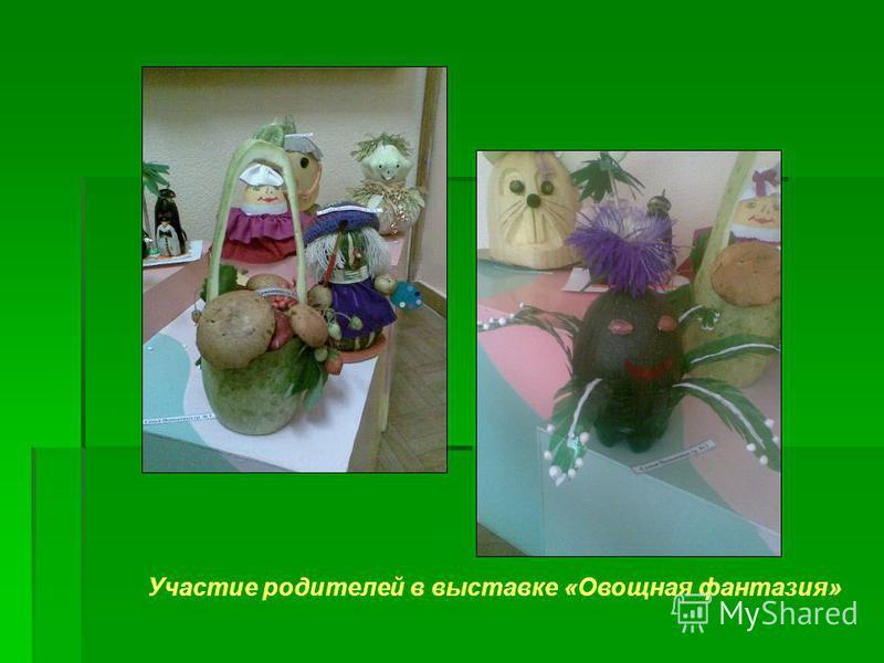 Участие родителей в выставке «Овощная фантазия»