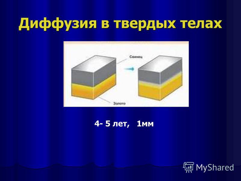 Диффузия в твердых телах 4- 5 лет, 1 мм