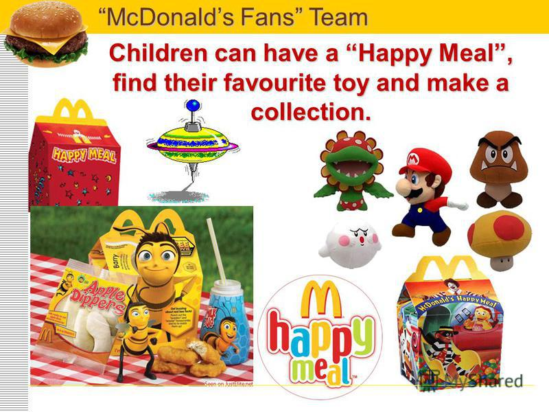 Children can have fun on a fantastic playground and talk to a funny clown Ronald McDonald. McDonalds Fans Team